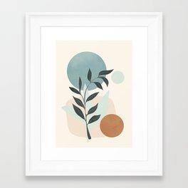 Azzurro Shapes No.53 Framed Art Print