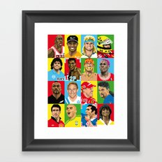 select your athlete Framed Art Print