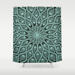 Delicate Teal Shower Curtain