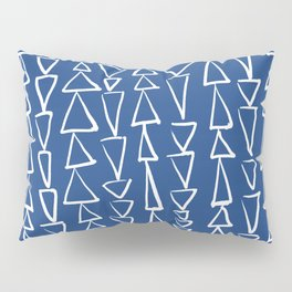 Blue Jazz Triangles Pillow Sham
