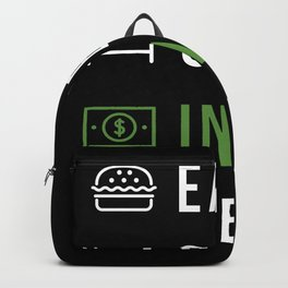 Eat Sleep Invest Repeat Backpack