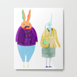 Mr BILLY &  Mrs LILLY Metal Print