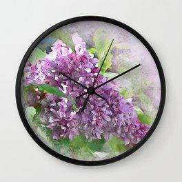 Soft Lilac Wall Clock