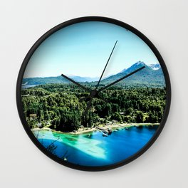 Greeen & Blue Wall Clock