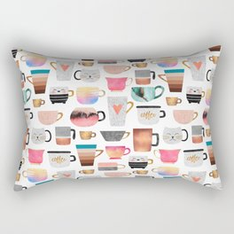 Coffee Cup Collection Rectangular Pillow