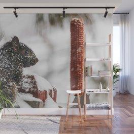 Winter Sqirrel Wall Mural