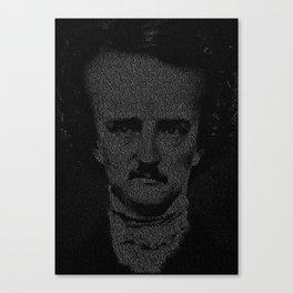 Mr. Poe Typographic Portrait Canvas Print