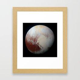Pluto on July 14, 2015 Framed Art Print