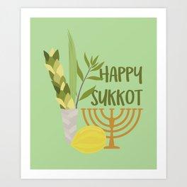 Sukkot Shalom Best Wishes for the Sukkot Holiday Art Print