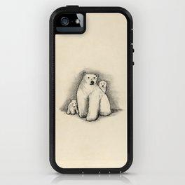 Animal Illustration Series: Polar Bear and Cubs iPhone Case