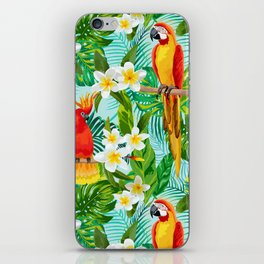 Tropical Parrot Chillin iPhone Skin