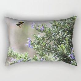 bumble bee flight Rectangular Pillow
