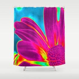 Flower | Flowers | Neon Daisy Shower Curtain
