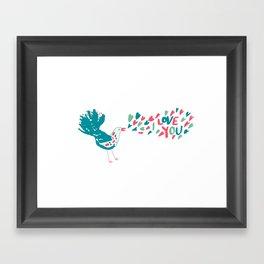 Birdy Song Framed Art Print