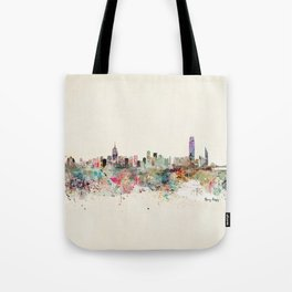 hong kong city skyline Tote Bag