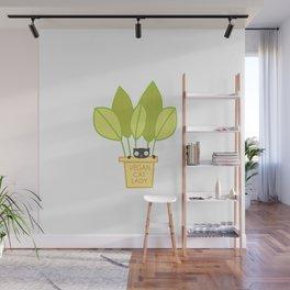 VEGAN CAT PLANT LADY Wall Mural