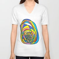 egg V-neck T-shirts featuring EGG by Shouta Itose