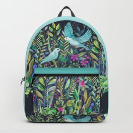 Little Garden Birds in Watercolor Backpack