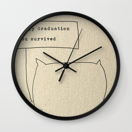 Happy graduation Wall Clock
