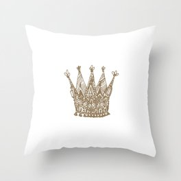Royal Crown Throw Pillow