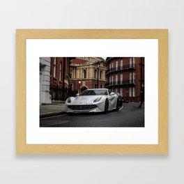 Raindrops on an F12. Framed Art Print