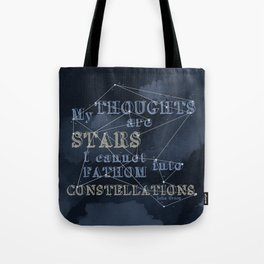 TFIOS - My Thoughts Are Stars Tote Bag