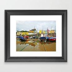 Tenby Harbour Reflection.Wales. Framed Art Print