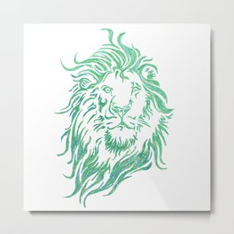 Green Lion Metal Print
