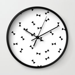 black and white bow Wall Clock
