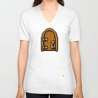 door V-neck T-shirts featuring Door by HOVERFLYdesign