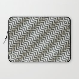 Diagonal Striped Print Pattern Laptop Sleeve