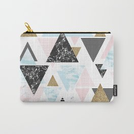 Textures triangles geometric Carry-All Pouch