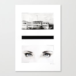 Here. Canvas Print