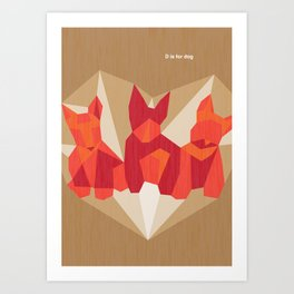 D is for dog Art Print
