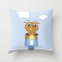 Mobil series scooters goat Throw Pillow