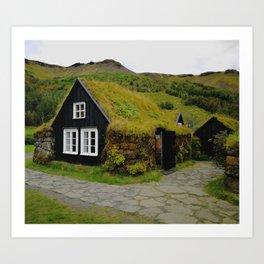 Skogafoss Art Print