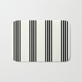 Simply Black White Stripe Bath Mat