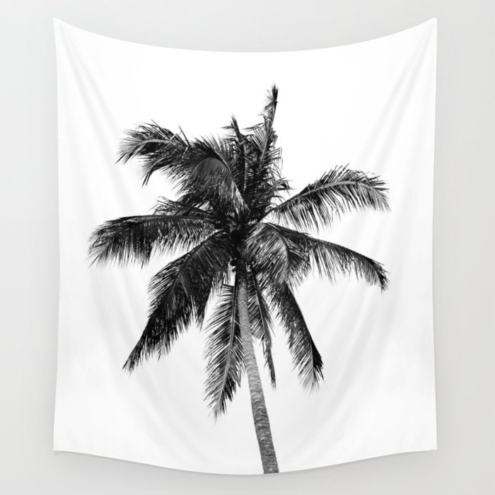 Palm Tree | Black and White Wall Tapestry