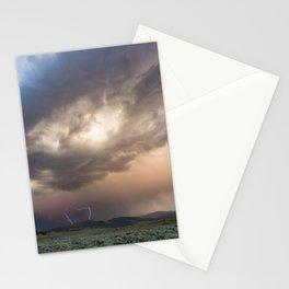Yellowstone National Park - Sunset storm over the Washburn Range Stationery Cards