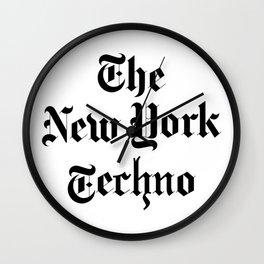 The New York Techno Wall Clock
