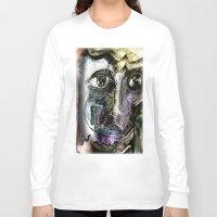henna Long Sleeve T-shirts featuring Henna Man by John Hansen
