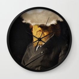 The inability of men with golden faces to be photographed without cloud. Wall Clock