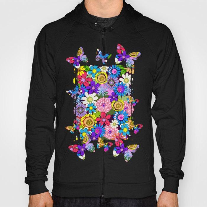 Cute Colourful Flowers Hoody