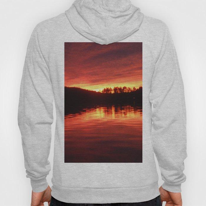 lake sunset Hoody