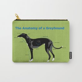 The Anatomy of a Greyhound- Black Carry-All Pouch