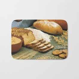Baking Bread Bath Mat