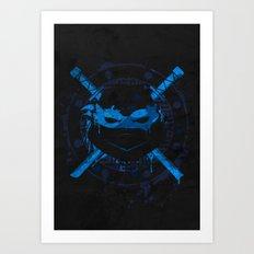 Leonardo Turtle Art Print