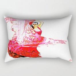 Bailarina Española ( Spanish Dancer ) Rectangular Pillow