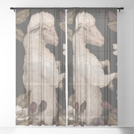 The Sheep and Blackberries Sheer Curtain
