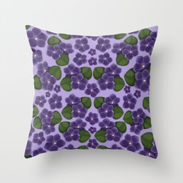 Violets are purple Floral Pattern Blossoms Throw Pillow